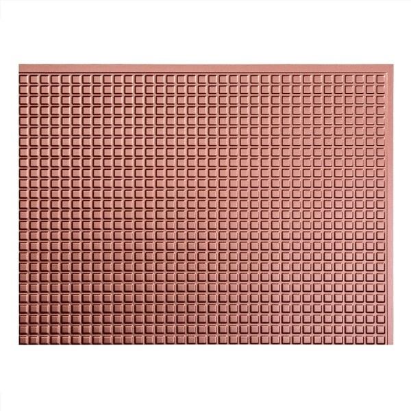 Shop Fasade Square Argent Copper 18 in. x 24 in. Backsplash Panel ...