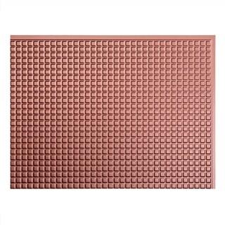 Fasade Square Argent Copper 18 In X 24 In Backsplash Panel