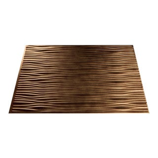 Fasade Waves Antique Bronze 18 in. x 24 in. Backsplash Panel
