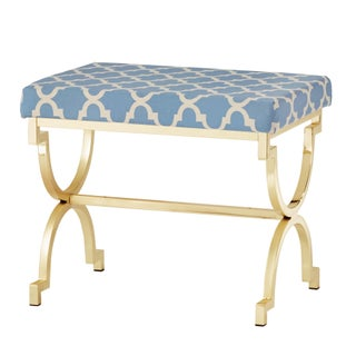 Kenza Moroccan Print Pattern Gold Plated Stool (4 options available)