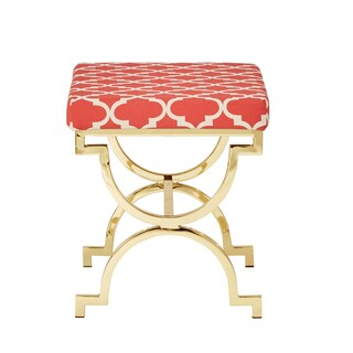 kenza moroccan print pattern gold plated stool by inspire q: heater table aaad