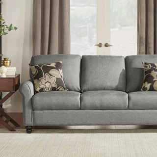 TRIBECCA HOME Dillion Urban Rolled Arm Upholstered Sofa