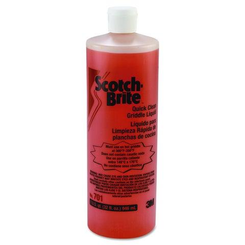 Scotch-Brite 1 qt Bottle Quick Clean Griddle Liquid (Pack of 4)