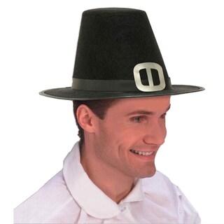 Pilgrim Hat Thanksgiving Adult Buckle Amish Colonial Quaker Puritan Salem