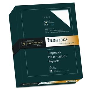 Southworth 25-percent Cotton White 20 lb. Business Paper (Box of 500 Sheets)