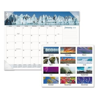 AT-A-GLANCE Mother Nature Recycled Monthly Desk Pad, 22 x 17, 2018