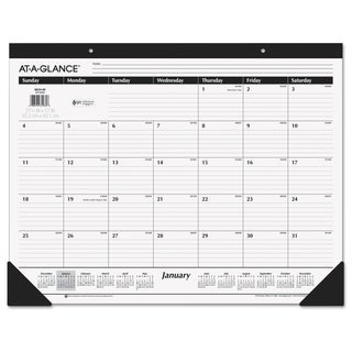 AT-A-GLANCE Ruled Desk Pad, 22 x 17, 2018