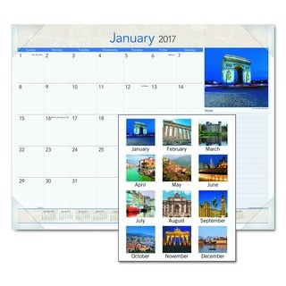 At-A-Glance 2017 European Destinations Desk Pad Calendar