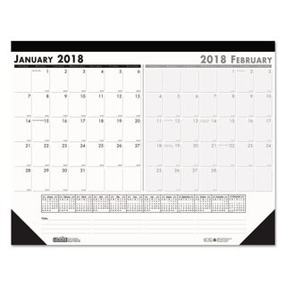 House of Doolittle Recycled Two-Month Desk Pad, 22 x 17, 2018