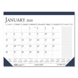 House of Doolittle Recycled Two-Color Monthly Desk Calendar w/Large Notes Section, 18 1/2 x13, 2018
