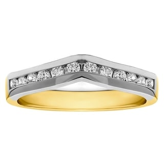 18k Gold 1/3ct TDW Diamond Classic Contour Wedding Ring (G-H, SI2-I1)