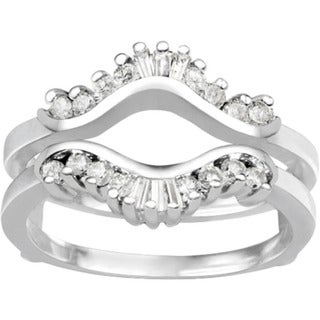 18k Gold 1/2ct TDW Diamond Traditional Contour Style Jacket Ring Guard (G-H, I1-I2)