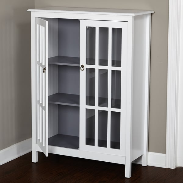 Simple Living Portland Window Pane Cabinet - Free Shipping Today ...