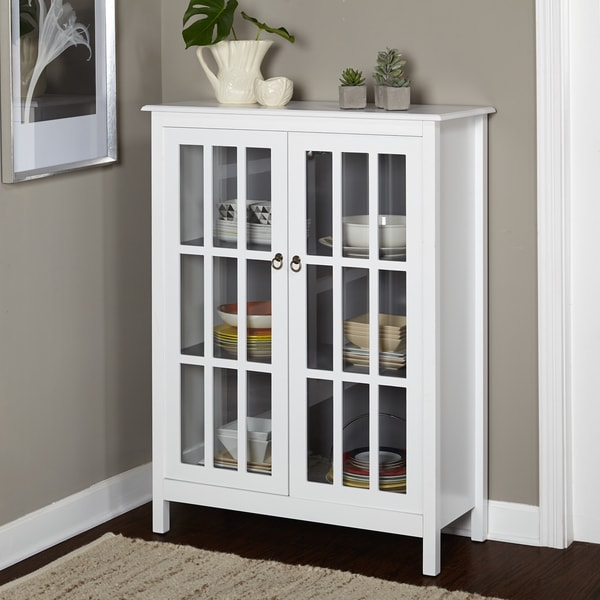 Bon Simple Living Portland Window Pane Cabinet