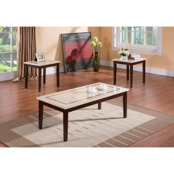 Faux Marble Coffee Table Canada: Shop K & B T361 3-piece Tables (Cocktail & 2 End Tables