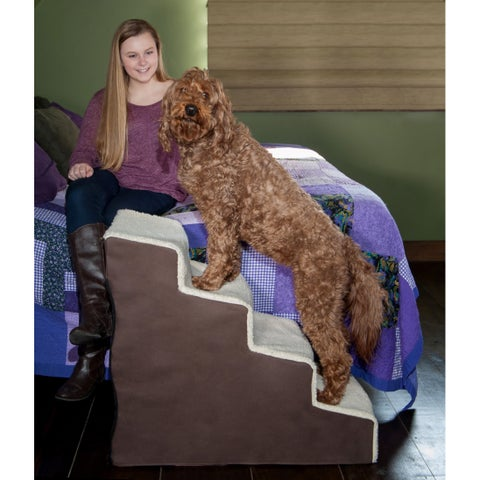 Pet Gear Easy Step IV Deluxe Soft Step - chocolate