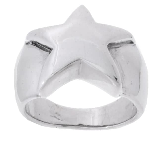 Journee Collection  Sterling Silver Star Ring