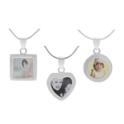 Journee Collection Sterling Silver Picture Frame Pendant