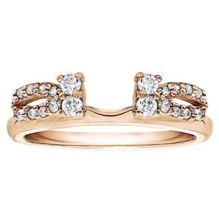 10k Gold 1/5ct TDW White Diamond Delicate Bow Style Ring Wrap (G-H, I2-I3)