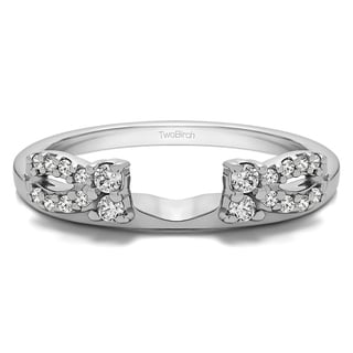 Sterling Silver 1/5ct TDW Diamond Delicate Bow-style Ring Wrap (G-H, I2-I3)