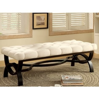 Valencia Elegant Tufted Button Accent Bench