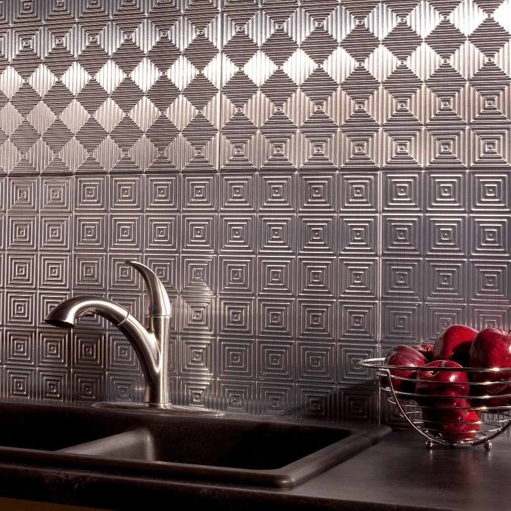 - Shop Fasade Miniquattro Brushed Aluminum 18 In. X 24 In
