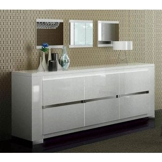 Luca Home 3-door White Buffet