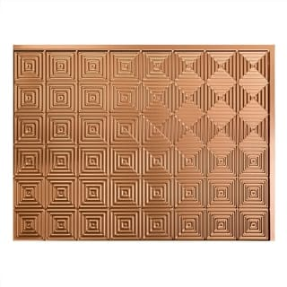 Fasade Miniquattro Polished Copper 18 in. x 24 in. Backsplash Panel