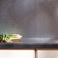 Fasade Hammered Brushed Aluminum 18 in. x 24 in. Backsplash Panel