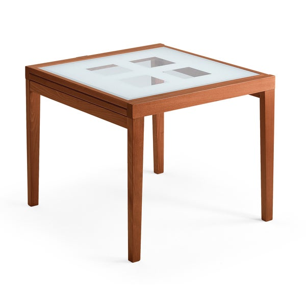 Shop Luca Home Frosted Glass Dining Table