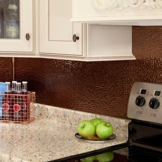 Fasade Hammered Oil Rubbed Bronze 18 in. x 24 in. Backsplash Panel (As Is Item)