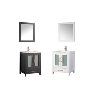 MTD Vanities Argentina 24-inch Single Sink Bathroom Vanity Set with Mirror and Faucet