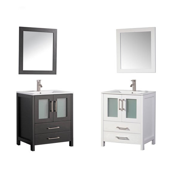 MTD Vanities Argentina 30-inch Single Sink Bathroom Vanity Set with ...