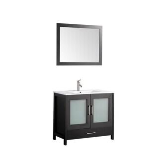 MTD Vanities Argentina 36-inch Single Sink Bathroom Vanity Set with Mirror and Faucet