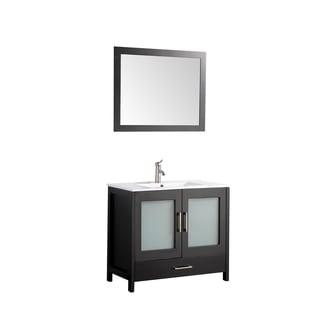 MTD Vanities Argentina 36 Inch Single Sink Bathroom Vanity Set With Mirror  U0026 Faucet