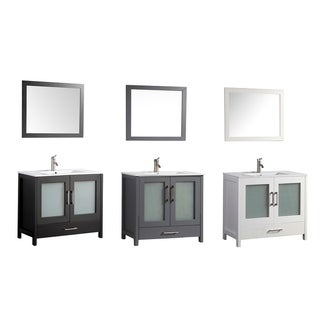 MTD Vanities Argentina 48-inch Single Sink Bathroom Vanity Set with Mirror and Faucet