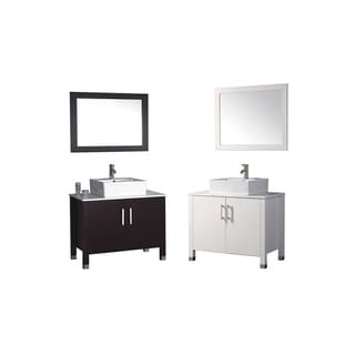 MTD Vanities Aruba 36-inch Single Sink Bathroom Vanity Set with Mirror and Faucet