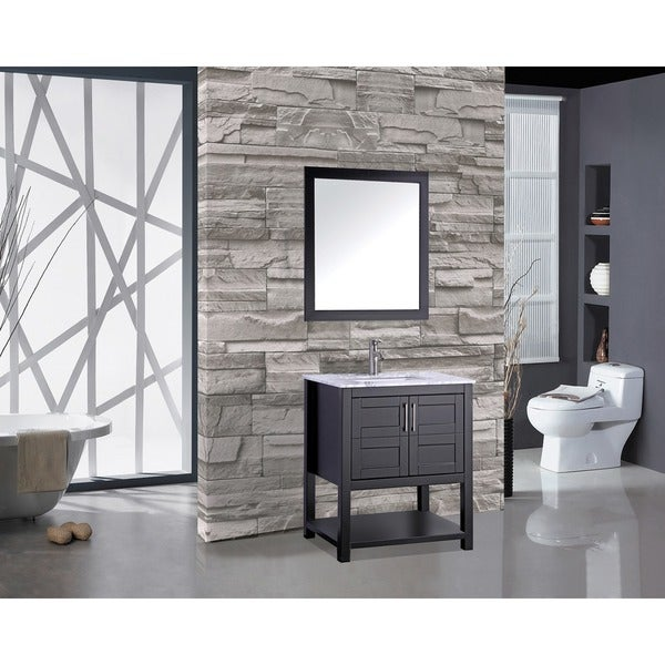 45 Inch Bathroom Vanities mtd vanities norway 30-inch single sink bathroom vanity set with