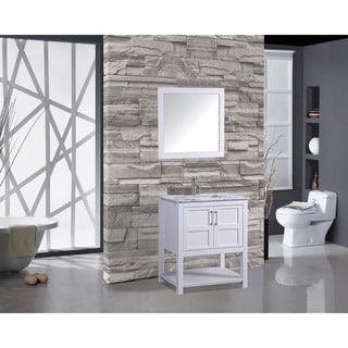 MTD Vanities Norway 30-inch Single Sink Bathroom Vanity Set with Mirror and Faucet