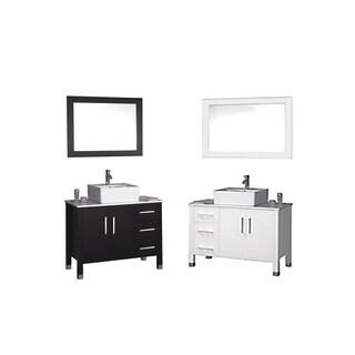 MTD Vanities Aruba 40-inch Single Sink Bathroom Vanity Set with Mirror and Faucet