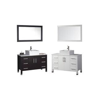 MTD Vanities Aruba 48-inch Single Sink Bathroom Vanity Set with Mirror and Faucet
