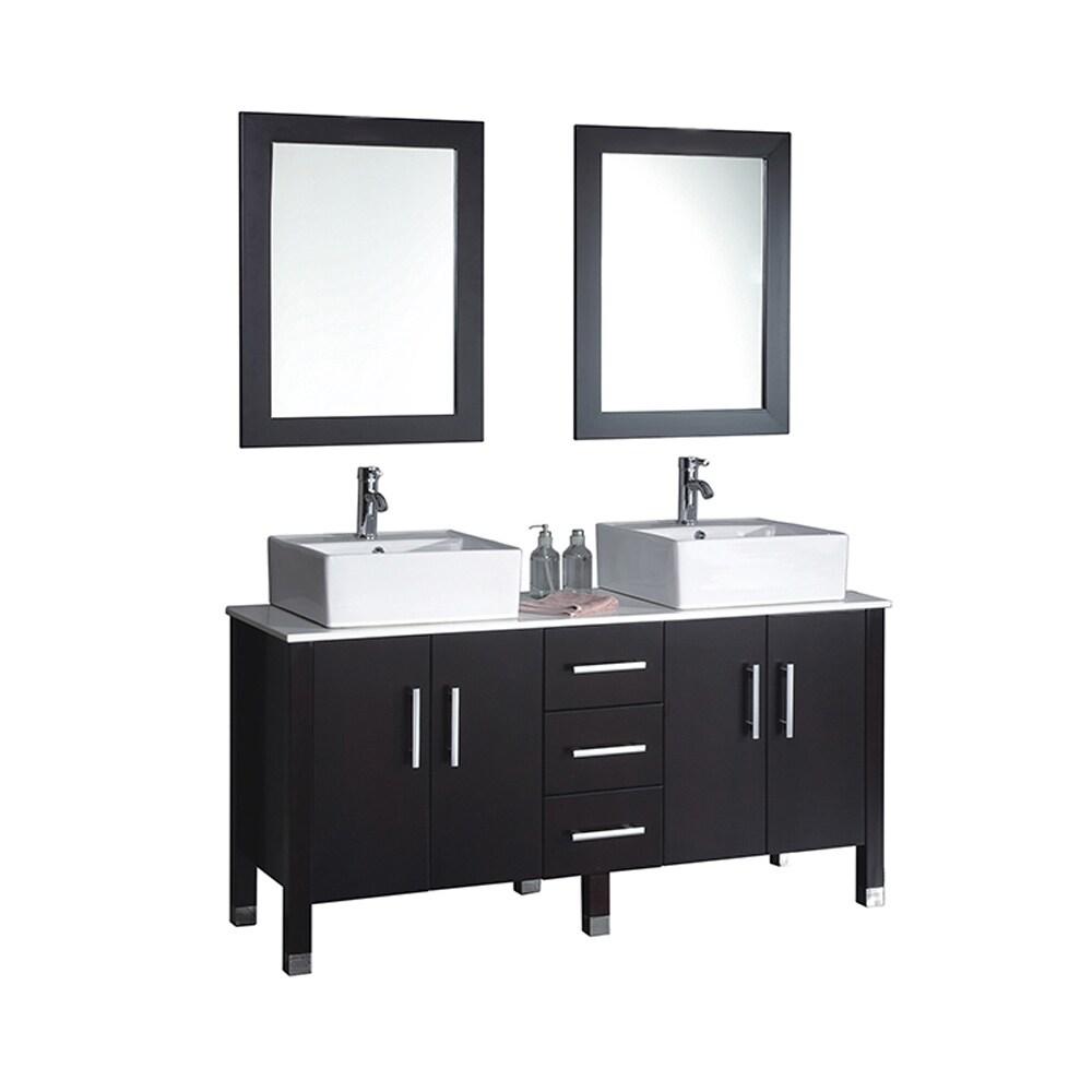Shop MTD Vanities Aruba 71-inch Double Sink Bathroom Vanity Set with ...