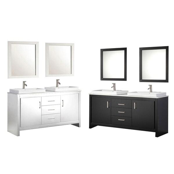 64 inch double sink bathroom vanity. MTD Vanities Belarus II 60 inch Double Sink Bathroom Vanity Set with Mirror  and Faucet