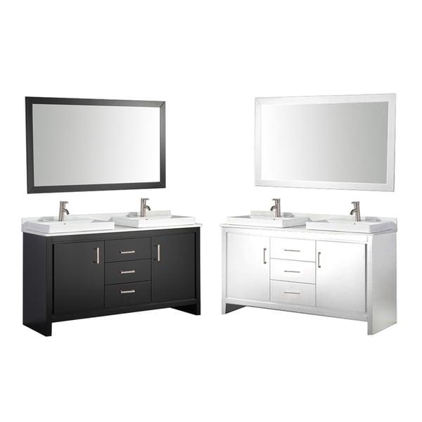 Mtd Vanities Belarus Ii 60 Inch Double Sink Bathroom Vanity Set With Mirror And Faucet Free
