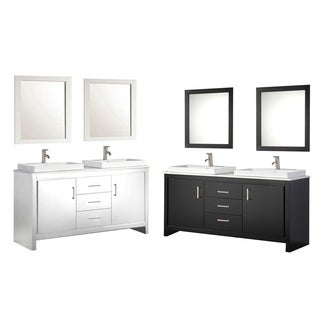 MTD Vanities Belarus II 60-inch Double Sink Bathroom Vanity Set with Mirror and Faucet