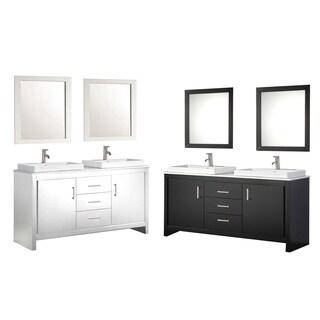 MTD Vanities Belarus II 60-inch Double Sink Bathroom Vanity Set with Mirror and Faucet