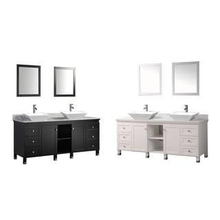 MTD Vanities Belarus 72-inch Double Sink Bathroom Vanity Set with Mirror and Faucet
