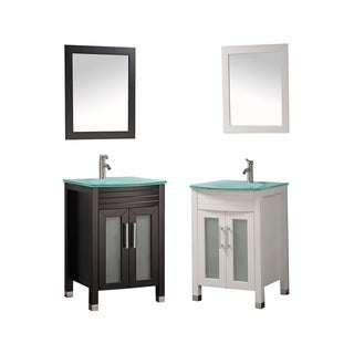 MTD Vanities Figi 24-inch Single Sink Bathroom Vanity Set with Mirror and Facuet