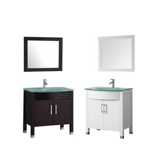 MTD Vanities Figi 32-inch Single Sink Bathroom Vanity Set with Mirror and Faucet