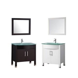 MTD Vanities Figi 32-inch Single Sink Bathroom Vanity Set with Mirror and Faucet